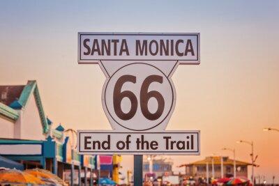 Obraz Historic Route 66 sign at Santa Monica California