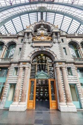 Obraz historischer Bahnhof von Antwerpia, Belgia