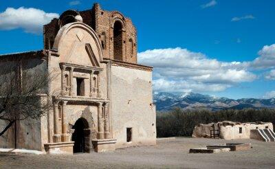 Obraz Historyczna południowo-zachodnia hiszpańska misja Adobe