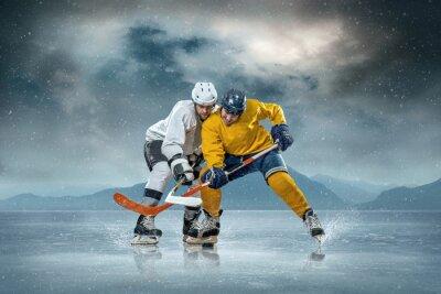 Obraz Hokeista na lodzie
