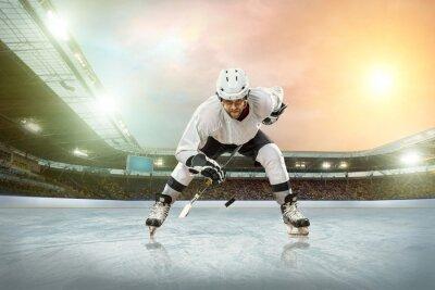 Obraz Hokeista na lodzie. Otwarty stadion - Zima Klasyczna gra