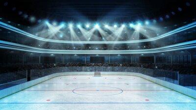 Obraz hokej na stadion z widzów i pusta lodowisko