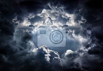 Obraz Hole in the Dramatic Clouds