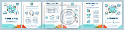 Obraz Home health care brochure template layout