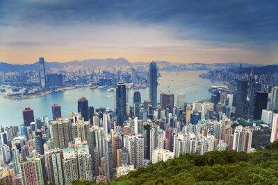 Obraz Hong Kong. Image of Hong Kong skyline view from Victoria Peak.