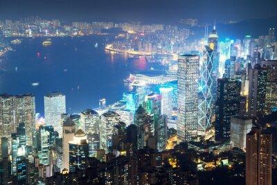 Obraz Hong Kong od szczytu Victoria