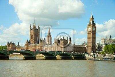 House of Parliament z Big Ban tower w Londynie w Wielkiej Brytanii