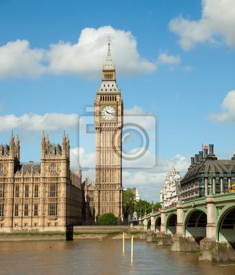 House of Parliament z Big Ben Tower w Londynie, Wielka Brytania