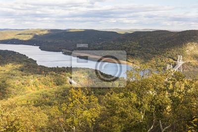 Hudson River View from: Bear Mountain Peak
