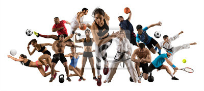 Obraz Huge multi sports collage athletics, tennis, soccer, basketball, etc