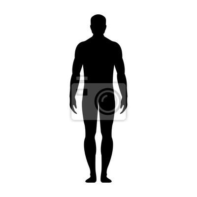 Obraz Human FSB sylwetki. Pojedynczo na białym tle. ilustracji wektorowych.