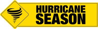 Obraz Hurricane season banner with sign. Vector.