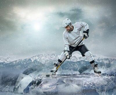 Obraz Ice hockey player on the ice