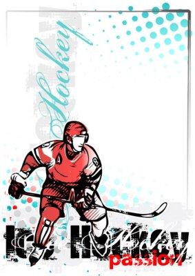 Obraz ice hockey vector poster background