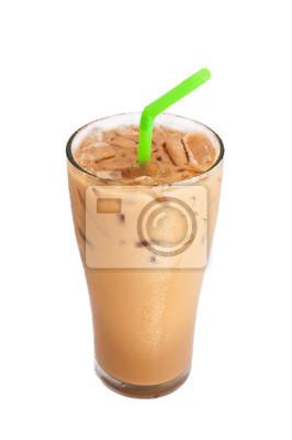 Ice mleka do kawy, samodzielnie na białym tle