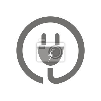 Obraz Icono enchufe eléctrico okrągły FB