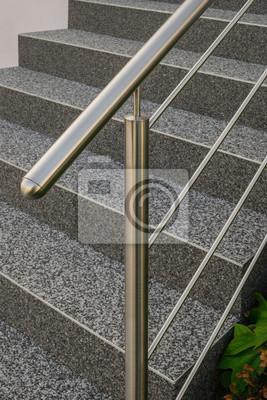 Topnotch Obraz Idealne stal nierdzewna balustrada przed schody zewnętrzne z VV33