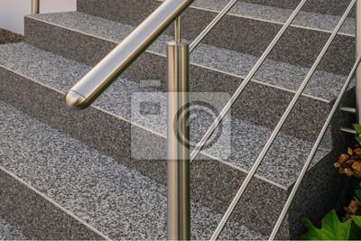 Bardzo dobra Obraz Idealne stal nierdzewna balustrada przed schody zewnętrzne z JX95