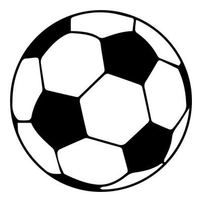 Obraz Ikona piłka piłka nożna, prosty czarny styl