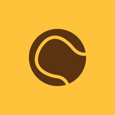 Obraz Ikona piłki tenisowej. Symbol Sport. Mieszkanie