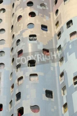 Obraz Ile de France, nowoczesny budynek w dzielnicy Pablo Picasso Nanterre