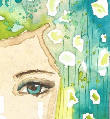 Obraz Ilustracja abstrakcyjna Portret kobiety