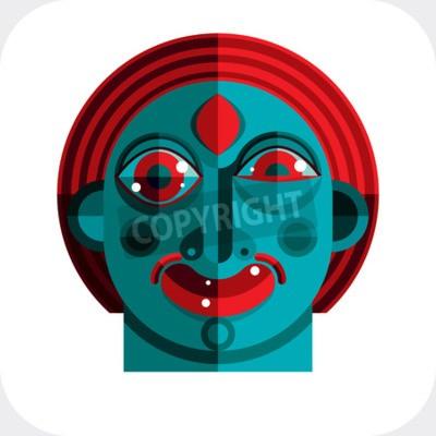 Obraz Ilustracja bizarre modernistycznej avatar, zdjęcie kubizm tematem. Wyraz twarzy danej osoby.