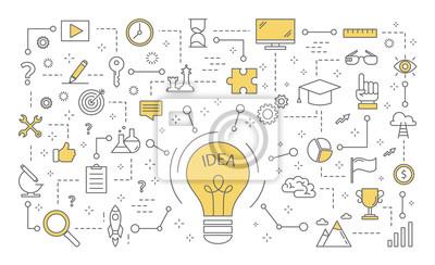 Obraz Ilustracja koncepcja pomysł