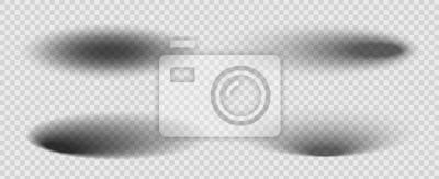 Obraz Ilustracja kreatywnych wektor okrągły, owalny cień z miękkimi krawędziami zestaw na białym tle na przezroczystym tle. Efekt artystyczny z różnymi kątami podświetlenia. Element graficzny koncepcja abst