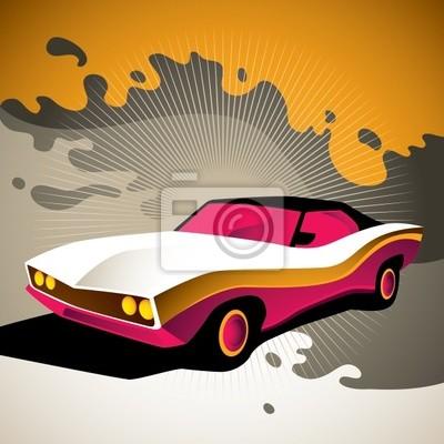 Obraz Ilustracja stylizowane muscle car .