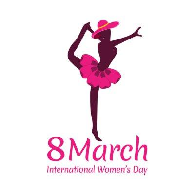 Ilustracja szczęśliwy koncepcji Dzień Kobiet
