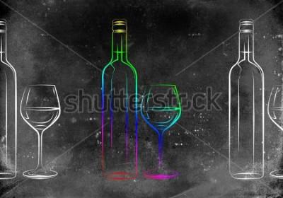 Obraz Ilustracja sztuki wina
