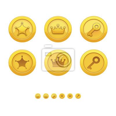 Ilustracja wektora z gry ikon. W grach komputerowych.
