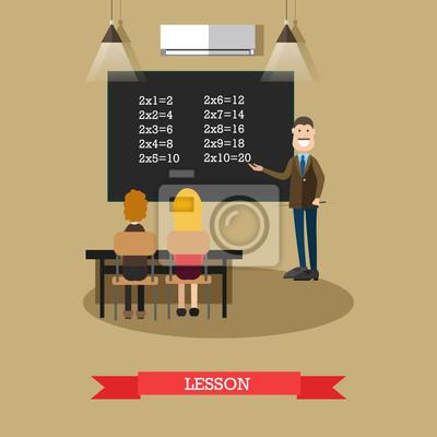 Ilustracja wektorowa koncepcja lekcji w stylu płaski