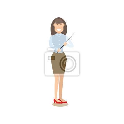 Ilustracja wektorowa nauczyciela w płaski