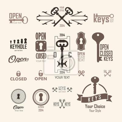 Ilustracja wektorowa z rocznika kluczy.