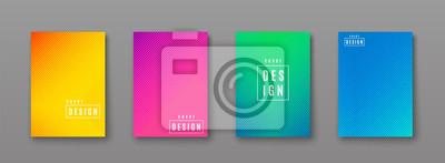 Obraz Ilustracji wektorowych jasnym kolorze abstrakcyjna deseń z linii gradientu tekstury