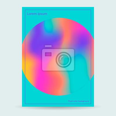 255c0c4c0807d3 Płynne kolory tła, okrągły, niebieski plakat, fioletowy różowy żółty  gradient