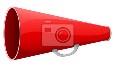 Obraz ilustracji wektorowych z czerwonym megafon.
