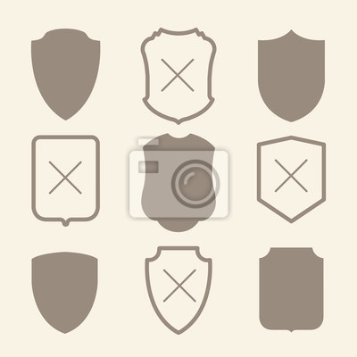 Ilustracji wektorowych z prostych sylwetki tarczy.