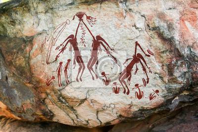 Obraz Indigenous aboriginal rock art in Australia's Kimberley region just out of Kalumburu