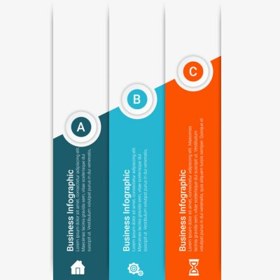 Infographic concept. Business template with steps, options, parts. Can be used for workflow layout, diagram, chart, step by step infographics, web design. Vector illustration
