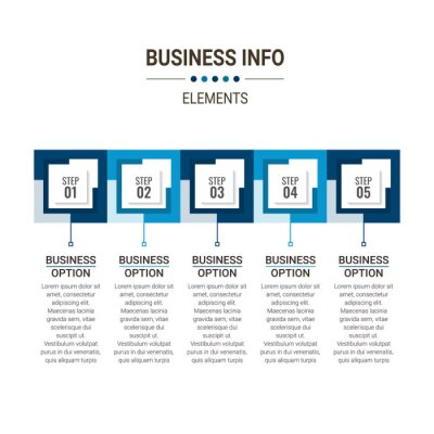Infographic elements data visualization vector design template. Process chart. Abstract elements of graph, diagram with steps, options, parts or processes.