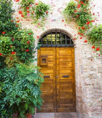 Obraz Ingresso di casa con fiori