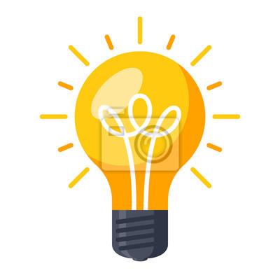 Obraz Innovative idea modern stylish icon with light bulb