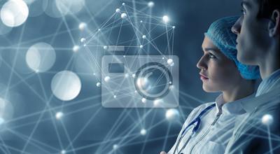 Obraz Innowacyjne technologie w nauce i medycynie