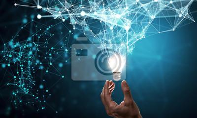 Obraz Innowacyjny pomysł w ręce biznesmen