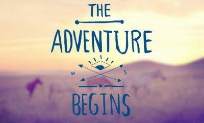 Obraz Inspiracja Motywacja Adventure Travel Koncepcja życia