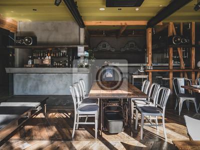 Obraz Interior of Japanese modern style cafe