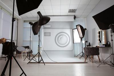 Obraz Interior of modern photo studio with professional equipment